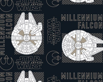 Star Wars The Force Awakens Millenium Falcon Fabric By The Yard