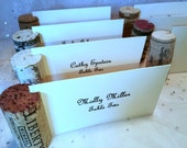 20 Place Card Holder Wine Corks Many Wineries All Natural No Synthetics Side Slit Opening Wedding Rehearsal Dinner Wine Events Dinner Party