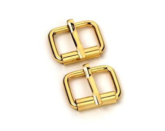 "50pcs - 5/8"" Roller Pin Belt Buckles - Gold - Free Shipping (ROLLER BUCKLE RBK-105)"