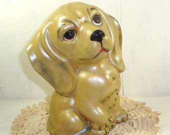 Vintage Ceramic Dog Figurine  (829-15)