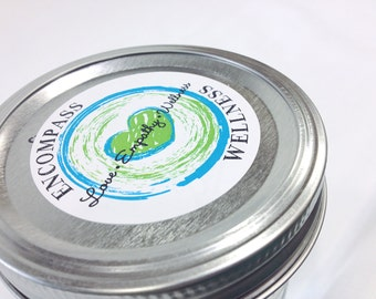Round Packaging Labels - 5 Sheets - Jar Top Labels - Custom Designs - MULTIPLE SIZES AVAILABLE