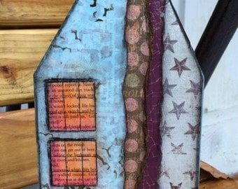 Wooden House Mixed Media