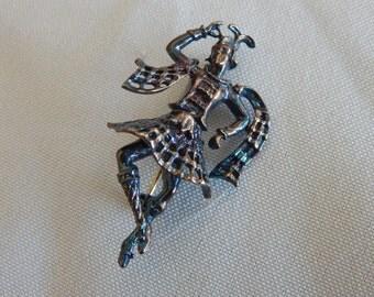 Small Filigree Dancer Pin - Copper Finish - Vintage