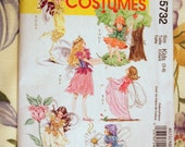 McCall's Fairy Costume Dress Pattern New In Package Uncut Size 3-8 Girl