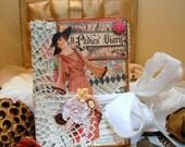 Ladies Diary Graphic 45 Altered Mixedmedia Victorian Inspired Photo Album OOAK