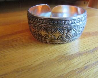 Abstract hippie cuff bracelet