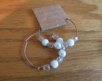 white bead hoops