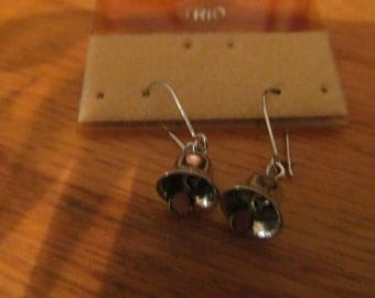 tiny bell dangle earrings