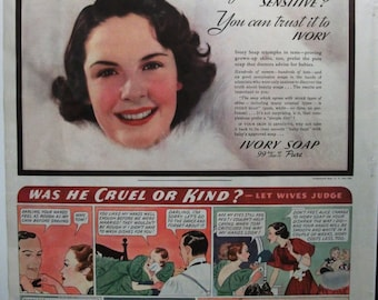 """Toil ... 114   """"Ivory Soap""""  Ad - March 1937"""