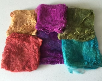 Silk Hankies, Matawa Silk Hankies, Felting Supplies