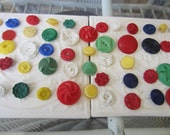 Vintage Buttons - Cottage chic mix of assorted colors lot of 52 old and sweet(apr403b)