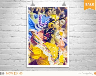 Sale 15% Day of the Dead, Folklorico Dancers, Tucson Photo, Mexican Dancers, Dia de los Muertos, All Souls, People Art, Dancing Picture, His