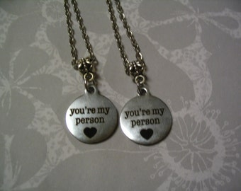 Youre My Person Necklace Set Jewelry Gift Friends or Sisters