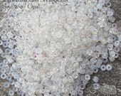 Size 11/0 Vintage Italian Seed Beads - Milky White Opalescent Alabaster