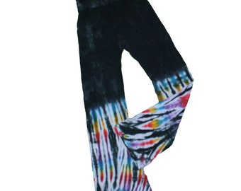 Yoga Pants in Black Rainbow Tie Dye- Girls and Womens Sizes Available
