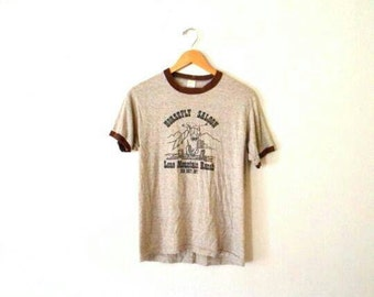 "1980's ""Horsefly Saloon"" Graphic Ringer T-Shirt"