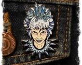 Crystal Ice Queen- enamel lapel pin- SINGLE ITEM