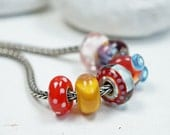 Charm Bracelet Beads // Lampwork Beads // Charm Beads // Hand Blown Murano Glass