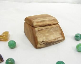 Smoke Bush Wood Box, presentation box, little wooden box, proposal box, engagement ring box, wedding ring box, ring bearer box, eco gift box