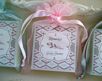 Aztec Arrow Bridal Shower, Baby Shower, Soap Favors, Set of 12