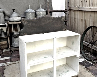 Vintage Reclaimed Salvaged Farm House Cabinet