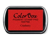 ColorBox Full Sized Ink Pad Cranberry Red