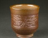 Salt-Fired Stoneware Yunomi (tea cup)
