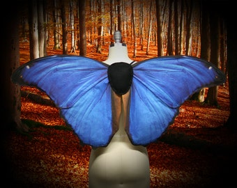 Ready to Ship - Blue Morpho Butterfly Costume Wings for Halloween, Butterfly Wings, Costume