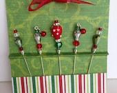 Christmas Stick Pins