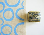 Loops - screen printed fabric - chalky colours