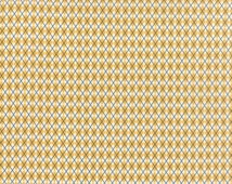 Varsity Kickoff, Yellow 5593 17, Yardage, Sweetwater for Moda Fabrics, Gold, Blue, Cream, U of M, Argyle