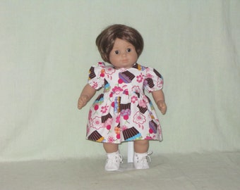 American Girl Bitty Baby Doll Dress Cup Cakes