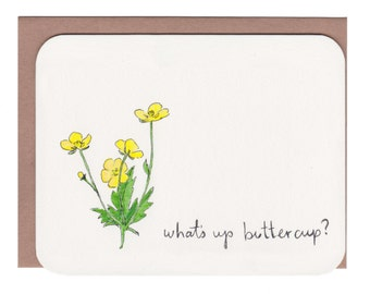 Buttercup card with envelope