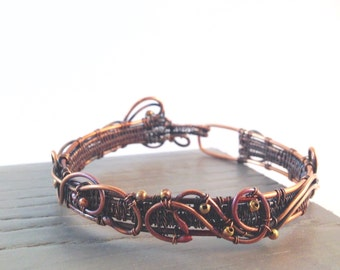 Twisted copper bracelet