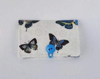 Fabric Business Card Holder Butterfly Butterflies