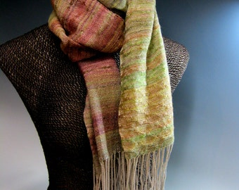 Handwoven Silk and Wool Scarf: Gradually
