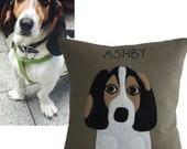 Custom Pet Portrait Pillow, Personalized Pet Pillow, Personalized Dog pillow, Dog Pillows, Custom Dog Pillow, Pet Pillow Portrait Custom