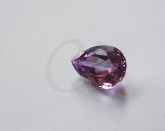 One Piece Pear Cut Natural Amethyst Stone Cabochons - Untreated Sparking Loose Stone