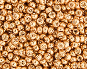 20 Grams Japanese Miyuki 15/0 Seed Beads - Gold Galvanized - 1.5mm (15-1052)