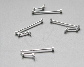 2pcs Premium Silver Plated Brass Base Charms-Zodiac-Aries 23.6x9mm (1162C-R-376)