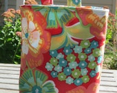 Floral Car Trash Bag Reusable Choose Your Fabric, Ready to Ship, Car Accessory, Litter Bag, Blue Floral, Peach Floral, Brown Floral