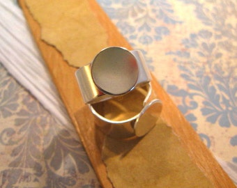 Adjustable Sterling Silver plated Ring Base from Nunn Design - 13mm Base