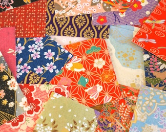 Set of 20 sheets of Beautiful Japanese washi paper random patterns