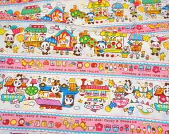 Animal Stores print japanese fabric half meter nc13