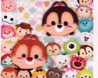 Disney Tsum tsum  iron-on Patches applique Chip and Dale