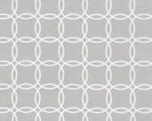 Two (2) Yards- Metro Living Interlocking Circles Robert Kaufman Fabrics SRK-15081-186 Silver