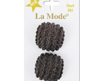 "Brown Knit Texture 1"" button. La Mode. 2 buttons a card."