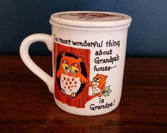 Grandpa Mug With Lid/Coaster