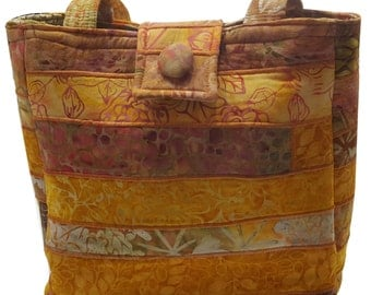 Large Batik Purse in Shades of Yellow
