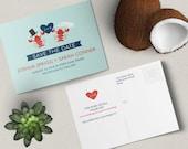 Bride + Groom Lobster Save the Date Postcard